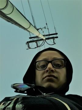 Vertical selfie